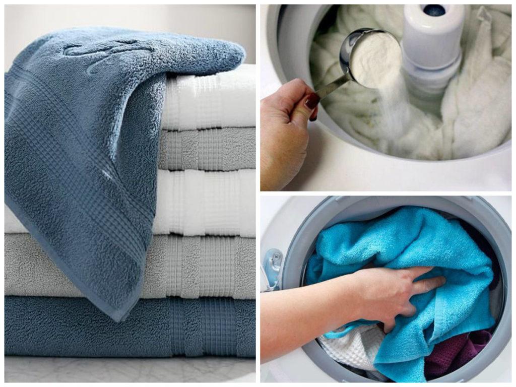 Giặt khăn bằng nước xà phòng nóng