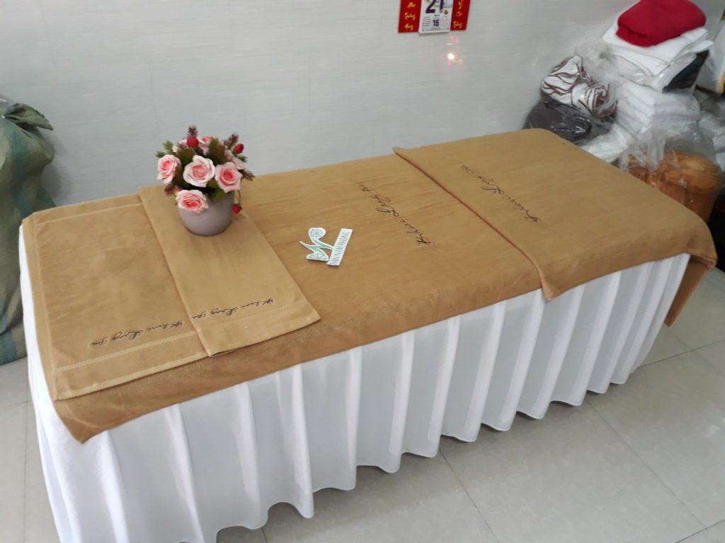 Đơn vị cung cấp khăn trải giường spa uy tín tại Hà Nội
